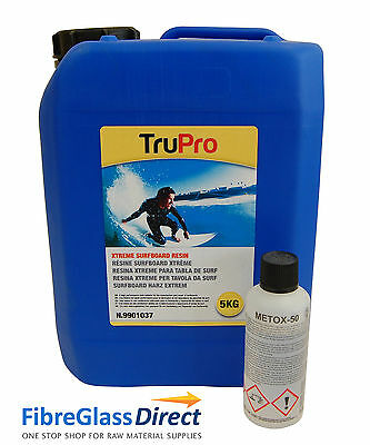 TruPro Xtreme Surfboard Resin 5kg & Catalyst - FREE P+P!