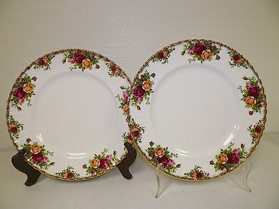 Royal Albert Old Country Roses Bone China Dinner Plates Two England Euc