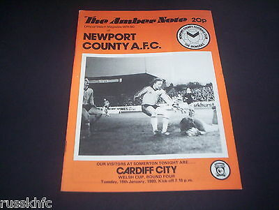 1979/80 Welsh Cup Newport V Cardiff
