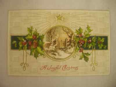Vintage Embossed Christmas Postcard Large Iron Gate Under The North Star 190?