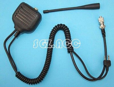 Hand held Mic with Speaker & Antenna for Icom Radio IC-A5 IC-A6 IC-A20 IC-A21