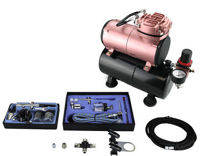 """""""Flowze"""" COMPRESSOR WITH TANK AIRBRUSH KIT (OPTION 2)- COPPER WOUND MOTOR FITTED"""