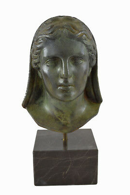 Demeter Bronze statue bust Ancient Greek Goddess of agriculture sculpture
