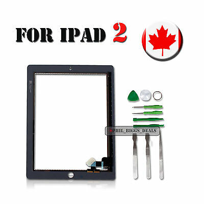 Replacement For Black iPad 2 Touch Screen Front Glass Digitizer Display Canada
