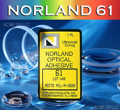 Norland 61 Optical Adhesive Glue - UV Cure - Tritium Glue - NOA61 - 1mL