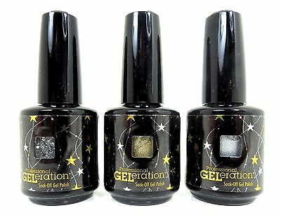 Jessica Geleration 2013 Winter Gel Nail Polish 3 color set 15 mL / 0.5 FL. oz