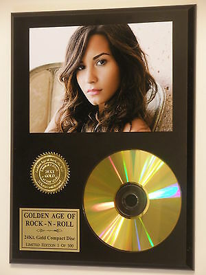 Demi Lovato 24k Gold CD Display Rare Limited Edition Free USA Priority Shipping