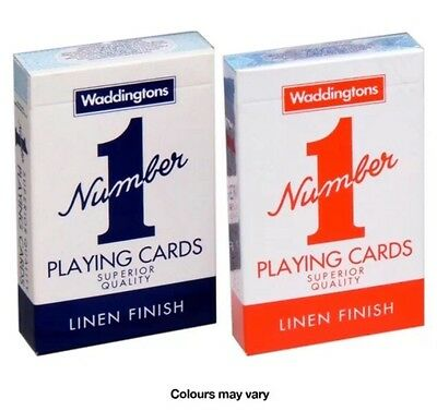 No.1 Playing Cards By Waddington Twin Pack (Red / Blue) UK SELLER QUICK DESPATCH