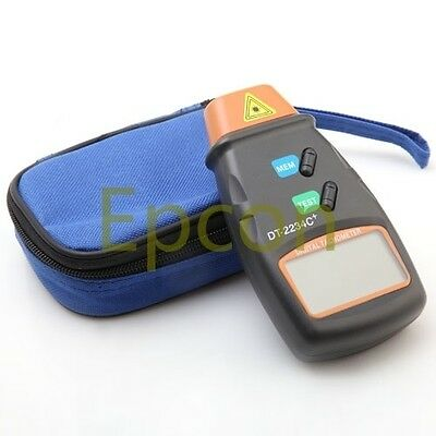Handheld Digital Laser Photo Tachometer Tach Motor Speed Meter 2.5 to 99999 RPM