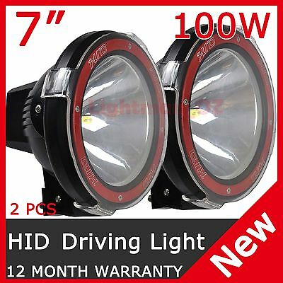 Pair 200W 7Inch Hid Xenon Driving Light Spotlight Offroad Replace 75W  Au Stock