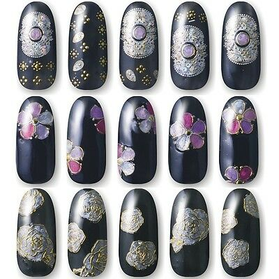Hot stamping 3D Flower Nail Art Stickers Decals For Nail Decoration High Quality