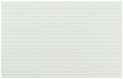 """Pack 100 Revision Flash Cards Record White Ruled Feint Index 8x5"""" Lined KF35206"""