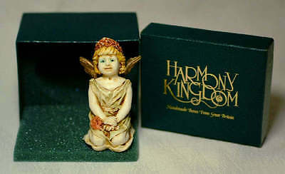 Harmony Kingdom Rare Painted Angel Fleur-de-lis Signed
