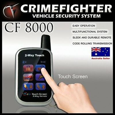 CF-8000 CRIMEFIGHTER Color Touch Screen Remote 2 Way Pager Car Alarm System