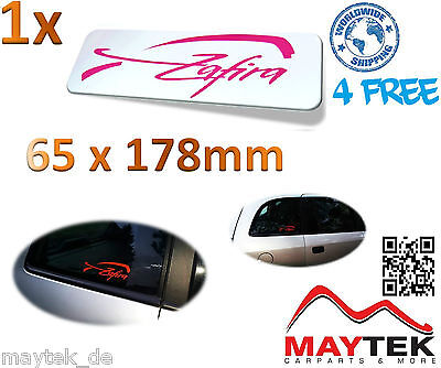 OPEL ZAFIRA A , ZAFIRA B & ZAFIRA C - in Pink 65x178mm Aufkleber, Sticker, Decal