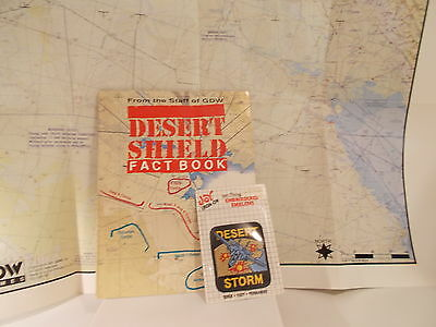 Desert Storm Shield Fact Book With Map And Patch