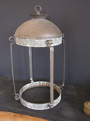 Large Bronze Cage Style Light With 4 Columns 6061