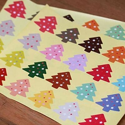 Christmas Tree Stickers Multi Colours x 60 Craft / Card Making / Presents / tags