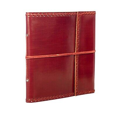 Fair Trade Handmade Stitched Large Leather Photo Album Scrapbook