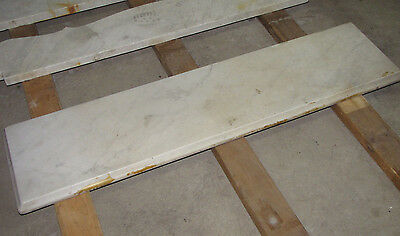Rectangular White Marble Gray Viens Slab Table / Shelf Top 4 Finished Edges 6086