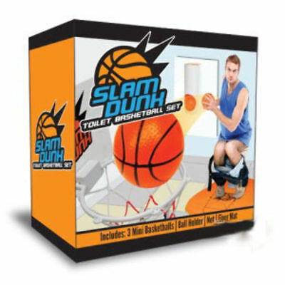 Slam Dunk N Flush - Novelty Toilet Basketball Great Gift Idea Man Cave Christmas
