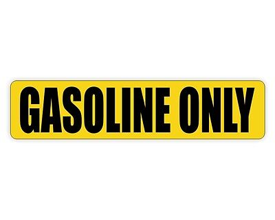 GASOLINE ONLY Vinyl Decal / Can Sticker / Door Labels Truck Gas Fuel Safety