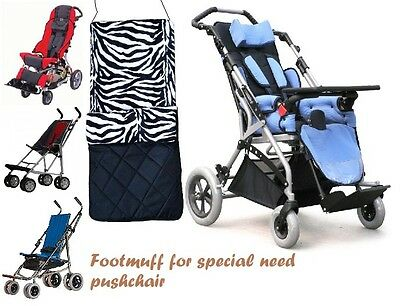 Footmuff for special need pushchair-Major Elite/Shuttle/Liberty/ Freedom/Spirit