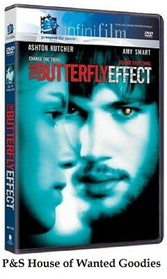 THE BUTTERFLY EFFECT- Ashton Kutcher, Amy Smart [DVD 2004, Infinifilm] Free S&H