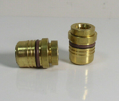 (2) Brass 6 x 1mm Releasable Push To Connect Air Line Fitting Lot of 2