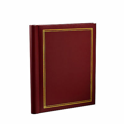 Self Adhesive Large Photo Albums 20 Sheets/40 sides 10.8 X 7.5 Inches - RED-SM40