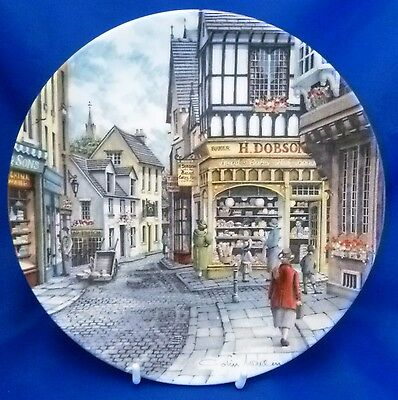 Royal Doulton Window Shopping Collector Plate By Colin Warden - Baker's Shop