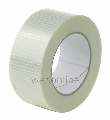 Crossweave Reinforced Tape (50M) - Multiple Pack Sizes - Strong Robust Packing
