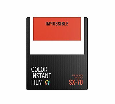 Impossible Project PRD4512 Color Instant Film for Polaroid SX-70 Cameras