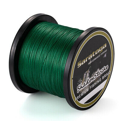 8Strands 300M Moss Green Super Strong Dyneema Saratoga Braided Sea Fishing Line
