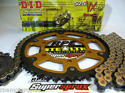 YAMAHA R6 '06-13 DID 525 X-Ring QUICK ACCEL. SUPERSPROX CHAIN AND SPROCKETS KIT