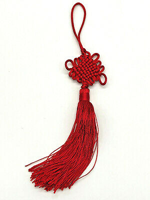 Mystic Knot Hanging Tassel Red Lucky Charm Feng Shui