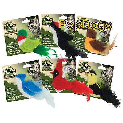 Play-N-Squeak Real Birds Catnip Cat Toy RealBirds Real Mouse Sound CATS GO CRAZY