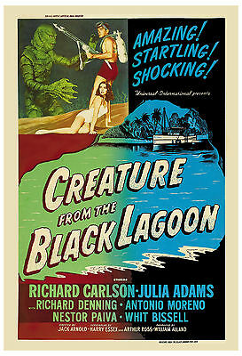 Universal Horror: * Creature From The Black Lagoon * Alternate Movie Poster 1954