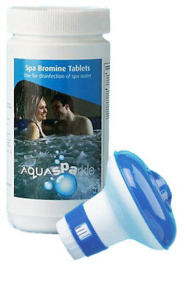1Kg Bromine FREE Dispenser 50 Tablets Hot Tub Swimming Pool Spa Tubs Spas