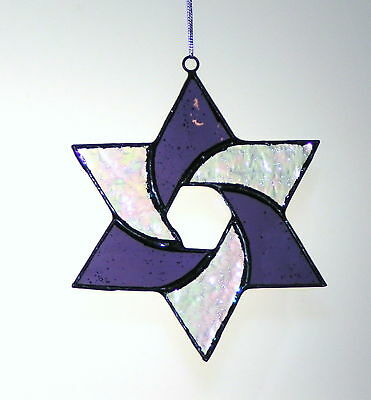 Stained Glass Spiral Star