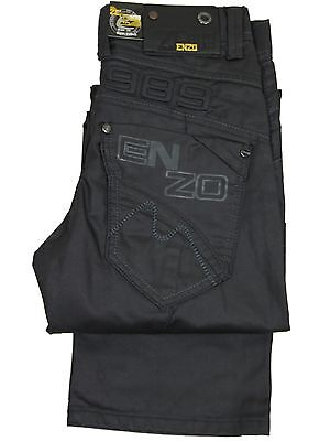 "New Kids Boys Enzo Branded Straight Leg Jeans Sizes 24""-28""  Special Price"