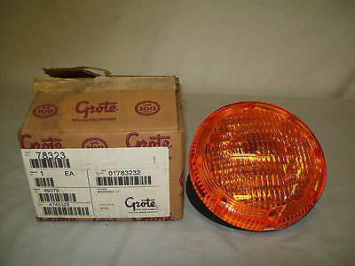 Grote Seal Beam Light With Amber Cover 78323 12 Volts Bus Truck Warning Light