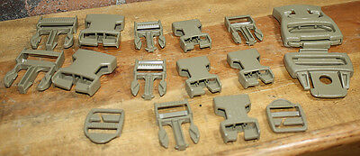 MOLLE II Buckle Repair Kit Desert 8465-01-465-2080 7 buckles 2 strap adjuster