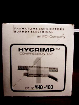 One Burndy HY-CRIMP Compression Tap YHO-100 Tap Connector (Lot of 3)