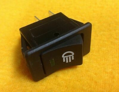ON-OFF Green illuminated rocker switch Rectangular 35A@12V  5 Yr Wty