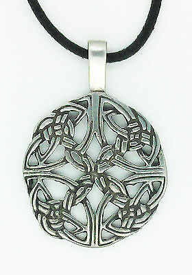 Authentic Celtic Kaleidoscope Pendant in Solid Pewter