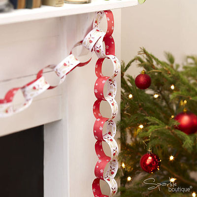 ROCKING RUDOLPH Christmas Paper Chains/Banner/Decorations - FULL RANGE IN SHOP!