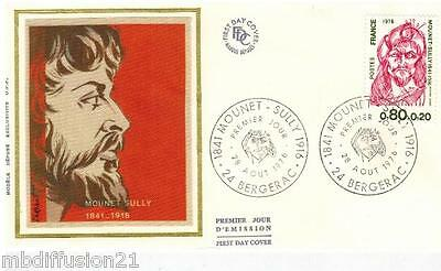 1976**Enveloppe Soie**Fdc 1°Jour**Mounet-Sully**Timbre Y/T 1882