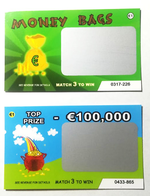 12 Fake lottery EURO (€) scratch cards scratchcards funny great for xmas!