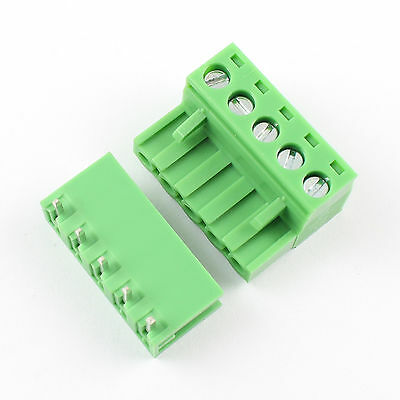 50Pcs 5.08mm Pitch Right Angle 5 pin 5 way Screw Terminal Block Plug Connector